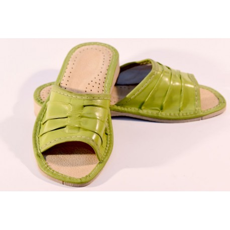 Pantofle damskie skóra
