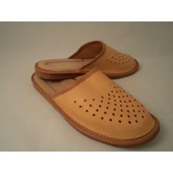 Pantofle meskie skóra 65-1901