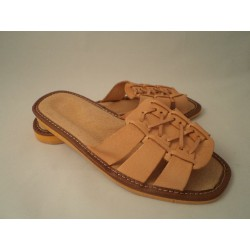 Pantofle damskie skóra 65-1903