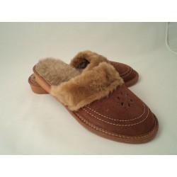 Pantofle ocieplane damskie 65-1905